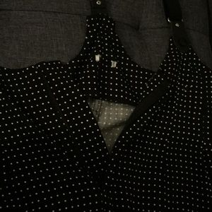 Forever 21 Other - one piece polka dot suspender overalls